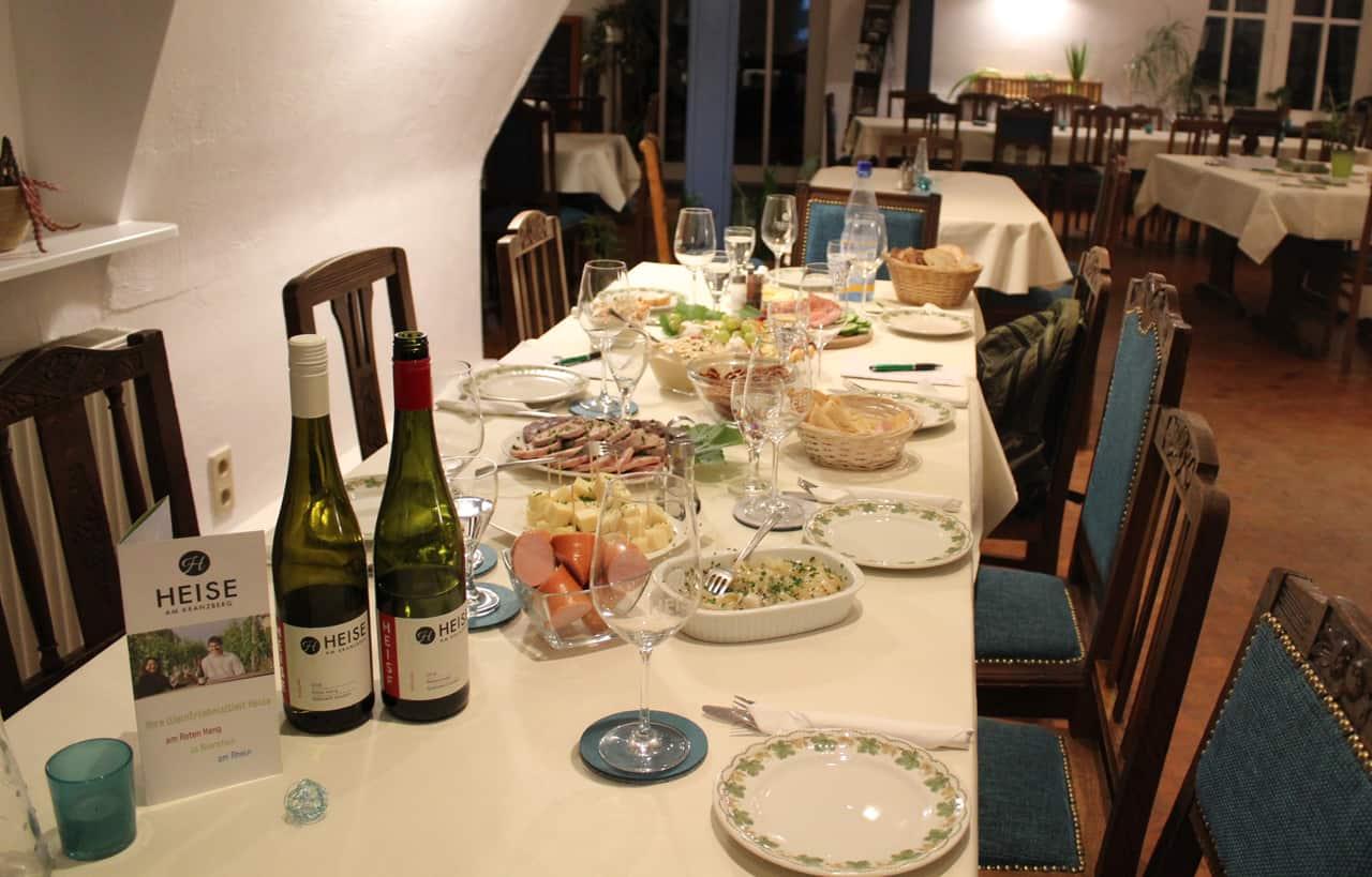 Weinprobe mit anschließender Vesper